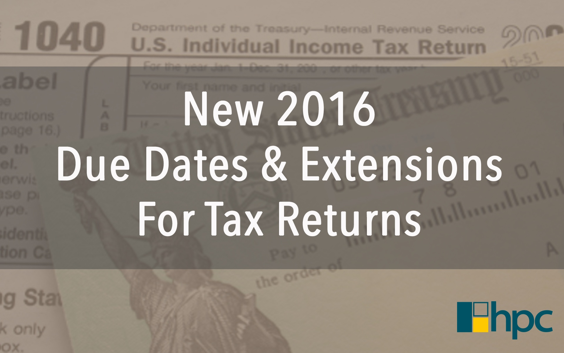 Tax extension due date